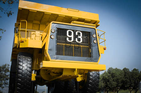 Large haul truck ready for big job in a mine. Low saturation and Stock Photo - 24297760