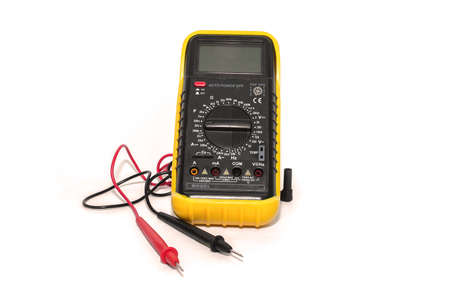 galvanometer: electronic galvanometer isolate on white background Stock Photo