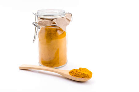Turmeric powder for alternative medicine ,spa products and food ingredient. Imagens