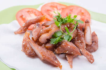 white sesame seeds: fried pork with white sesame seeds