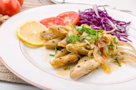 sheatfish: El pescado frito y salsa de chile, Sheatfish.