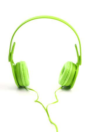 Kopfhörer isoliert auf weißem Hintergrund Standard-Bild - 45722677