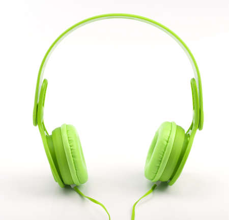 headset voice: Headphones isolated on a white background Stock Photo