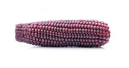 maiz: maíz morado sobre un fondo blanco