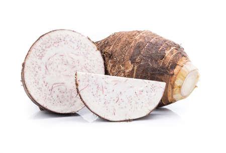 taro isolated on white background.