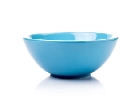 Empty ceramic bowl isolated Stock Photo
