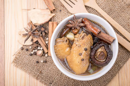 Chinese Ginseng soup, Chinese style soup with ginseng and chicken.