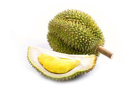 King of fruits, durian on white background Imagens - 78002144