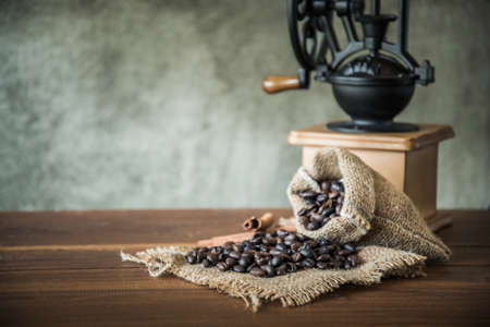 coffee in the morning. Still life photograph, coffee in vintage color tone Stock Photo