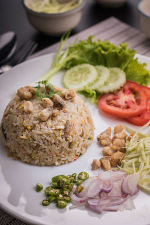 Thai cuisine ,fried rice with fish.