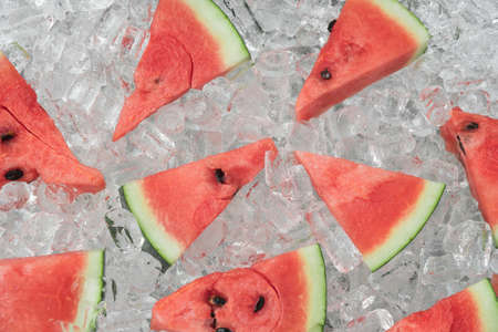 Watermelon with ice Stock Photo