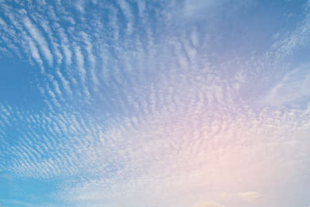 Blue sky with white clouds, clear blue sky with plain white cloud with space for text background.