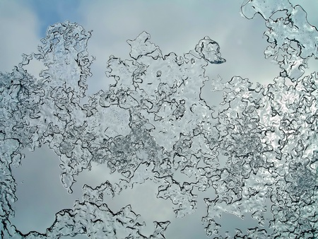 icily: ice-crystals on the window