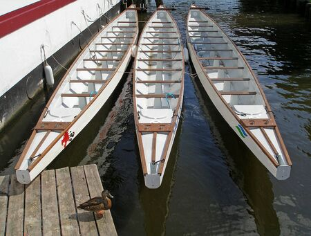 Three canoes Stock Photo - 13999650