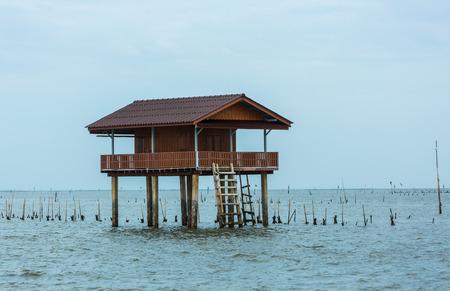 태국의 해변에서의 홈스테이 스톡 콘텐츠