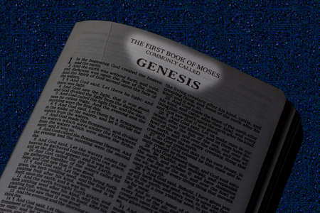 Bible, Book of Genesis, Book Title Highlighted