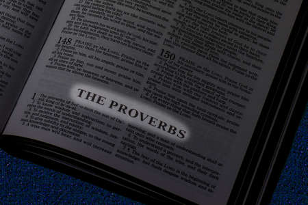 Bible, Book of Proverbs Banque d'images
