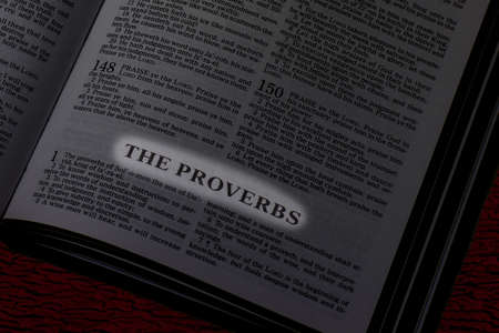 Bible, Book of Proverbs, Book Title Highlighted