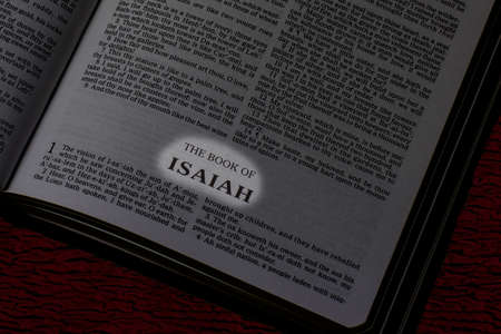 Bible, Book of Isaiah, Book Title Highlighted