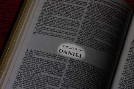 Bible, Book of Daniel, Book Title Highlighted
