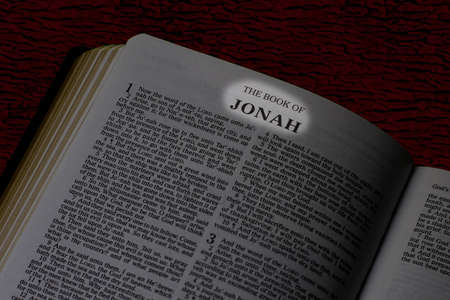 Bible, Book of Jonah, Book Title Highlighted