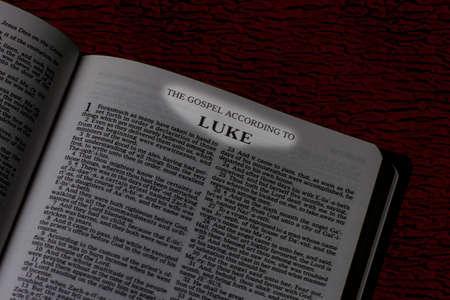 Bible, The Gospel of Luke, Book Title Highlighted