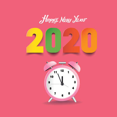 2020 numbers welcome the new year festival Stock Illustratie