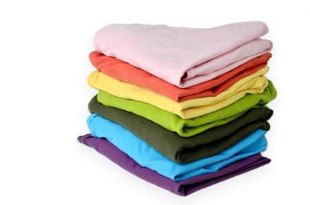Stacks Clothes Colorful Banco de Imagens