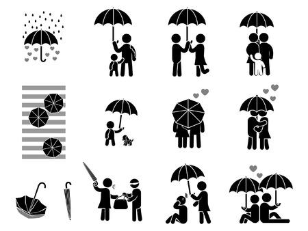 simbolo uomo donna: Comportamento, ombrello di amore