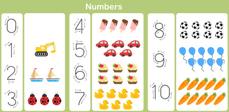 number : counting and writing numbers to 10 for kids