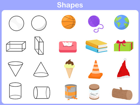 Learning the shapes with object for kids