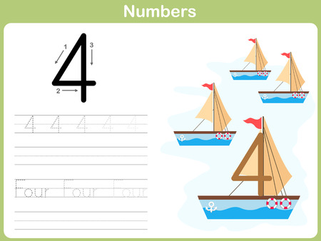 tracing: Number Tracing Worksheet: Writing 0-9