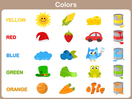 Het leren van het object kleuren voor kind Stock Illustratie