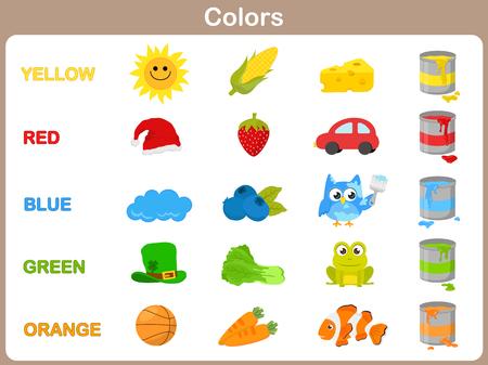 Imparare i colori degli oggetti per i bambini Archivio Fotografico - 31985574
