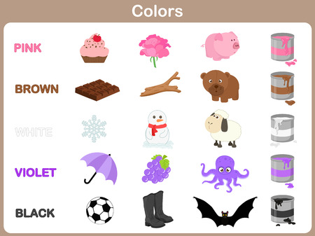Learning the object colors for kids Vector