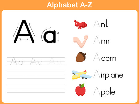 Alphabet Tracing Worksheet: Writing A-Z Çizim