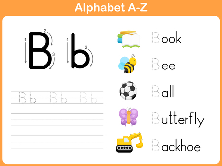 writing letter: Alphabet Tracing Worksheet: Writing A-Z Illustration