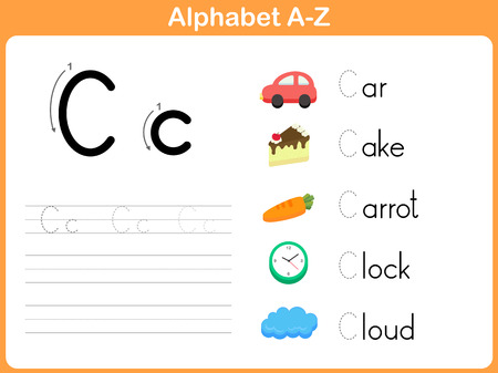 tracing: Alphabet Tracing Worksheet: Writing A-Z Illustration