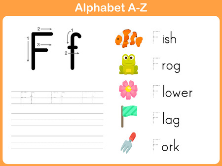 Alphabet Tracing Worksheet: Writing A-Z Illustration