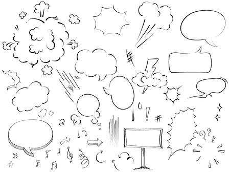 sketched arrows: bubble collection sketch drawing vector
