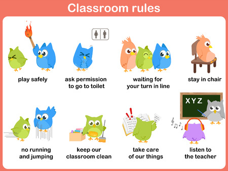 keep clean: Classroom rules for kids
