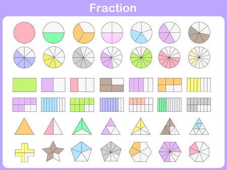 star cartoon: fraction for education Illustration