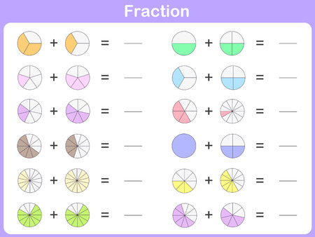 fraction for education 向量圖像