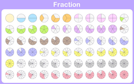 fraction for education  イラスト・ベクター素材