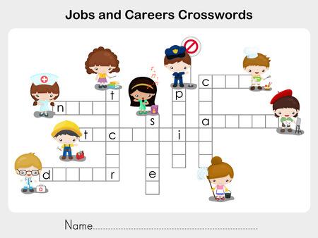 Jobs and Careers Crosswords - Worksheet for education