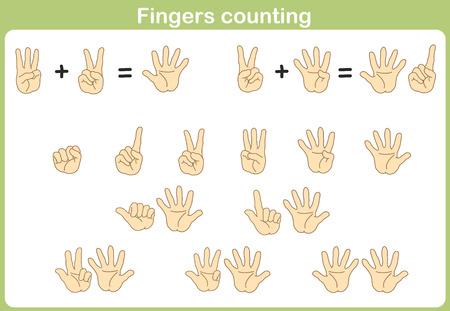 Finger conteggio per l'aggiunta e la sottrazione Archivio Fotografico - 38337413