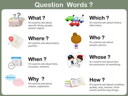 whose: Domanda Word Flashcards con Picture per i bambini