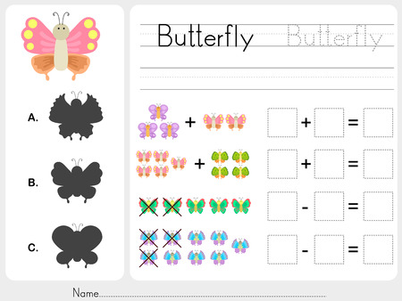 pattern images  Worksheet for education  イラスト・ベクター素材