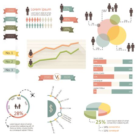 graphic presentation: Human infographic vector illustration.  Graph information Illustration