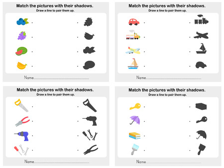 Match object shadow 4 sheet - Worksheet for education